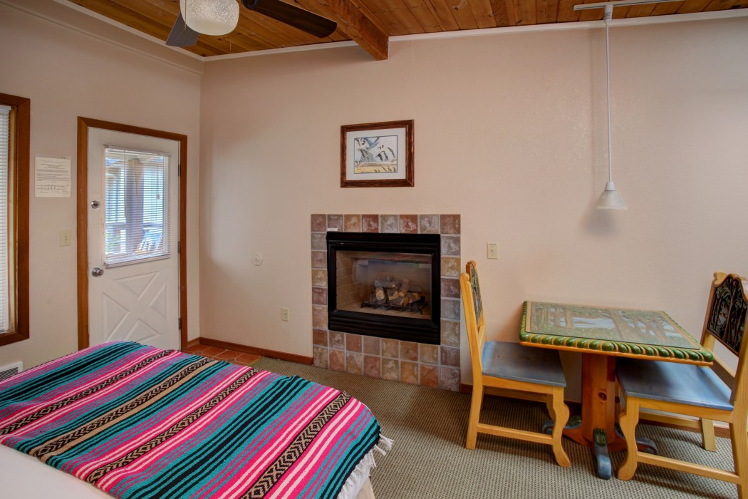 Guest Room with Fireplace